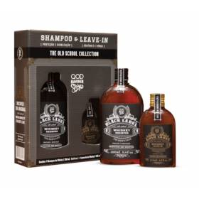 Kit Black Label Shampoo + Leave - in QOD Barber Shop - Kit de Cuidado Capilar Masculino