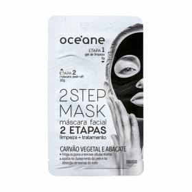 2 Step Mask Carvão Vegetal e Abacate Océane - Máscara Facial