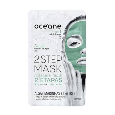 2 Step Mask Algas Marinhas e Tea Tree Océane - Máscara Facial