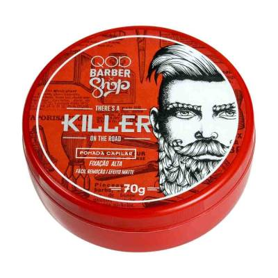 There's A Killer On The Road QOD Barber Shop - Pomada Capilar